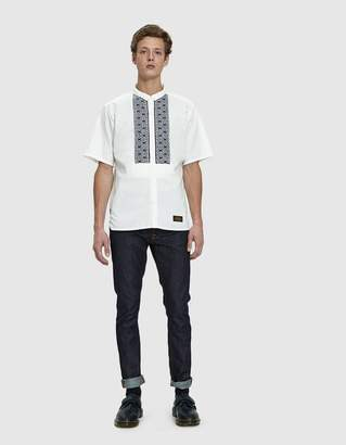Neighborhood Embroidered SS Shirt in White