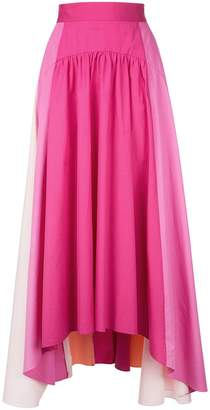 Peter Pilotto panelled trapeze skirt