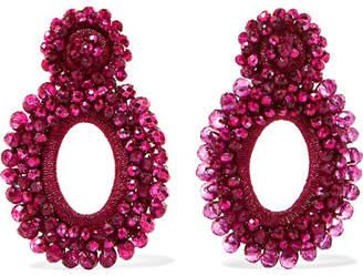 Bibi Marini - Primrose Bead And Silk Earrings - Fuchsia