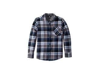 Volcom Caden Plaid Long Sleeve Flannel Shirt (Big Kids)