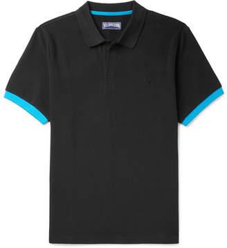 Vilebrequin Palatin Slim-Fit Contrast-Trimmed Cotton-Pique Polo Shirt - Men - Black