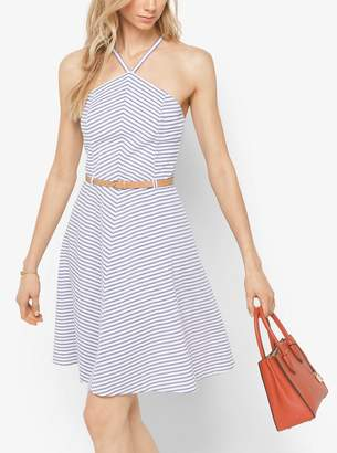MICHAEL Michael Kors Striped Cotton A-Line Dress
