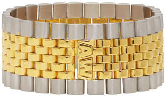 Alexander Wang Gold and Silver Watch Band Bracelet