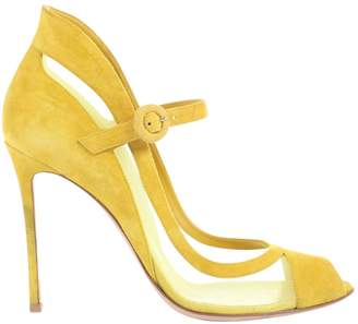 Gianvito Rossi Yellow Suede Heels