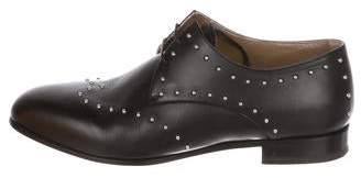 Hermes Leather Studded Oxfords