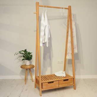 Za Za Homes Wooden Clothes Rack Stockholm