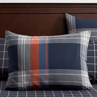 Pottery Barn Teen Walker Plaid Duvet Cover, Twin/Twin XL, Red