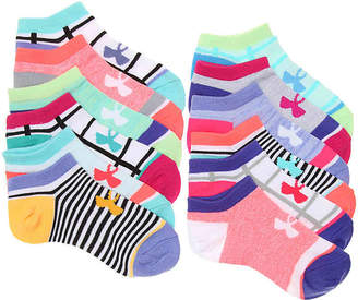 Under Armour Next Essential Youth No Show Socks - 6 Pack - Girl's