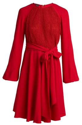 Giambattista Valli Macrame Lace Crepe Dress - Womens - Red