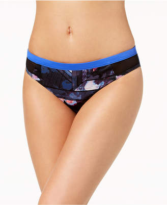Roxy Juniors' Keep it Scooter Printed Mesh-Side Bikini Bottoms Women's Swimsuit