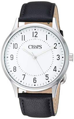 Chaps Men's Whitaker Stainless Steel Quartz Watch with Leather Strap