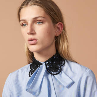Sandro Shirt with contrasting Peter Pan collar