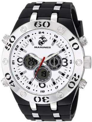 Wrist Armor Men's 37100008 C23 Analog-Digital Display Quartz Watch with Black Rubber Strap