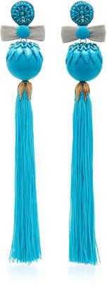 Ranjana Khan Embellished Tassel Earrings