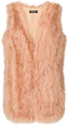 Twin-Set feathers sleeveless jacket $378.91 thestylecure.com