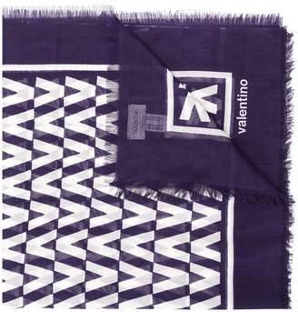 Valentino optical logo scarf