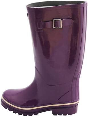 Jileon Wide Calf All Weather Durable Rubber Rain Boots For Women with Soft and Fluffy Lining on the Inside – Fits Perfectly For Calf Sizes Up To 18 Inches-Glossy Blue 8 Wide