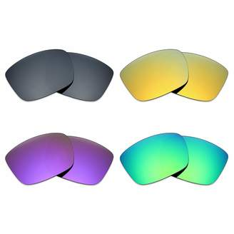 5b7e7e499ed Spy Optic Mryok 4 Pair Polarized Replacement Lenses for Discord Sunglass -  Black IR 24K
