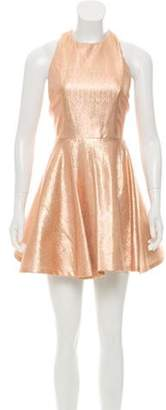 Alice + Olivia Metallic Halter Dress w/ Tags Gold Metallic Halter Dress w/ Tags
