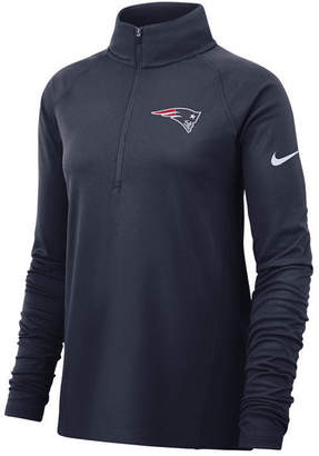 Nike Women New England Patriots Half-Zip Core Element Pullover