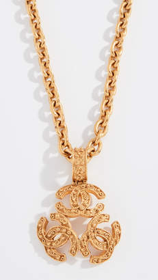 Chanel What Goes Around Comes Around Gold Triple CC Necklace