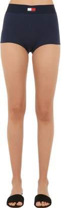Tommy Hilfiger High Waist Cotton Jersey Shorts