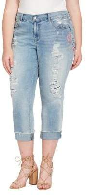Jessica Simpson Plus Mika Embroidered Bestfriend Jeans