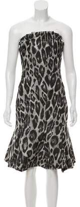 Lanvin Mini Animal Print Dress