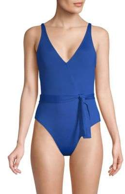 One-Piece Island Surplice Swimsuit