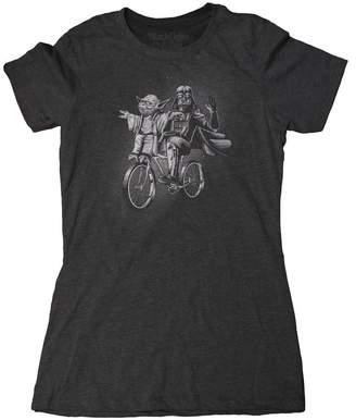 Star Wars Blackcoffee&Tees Women's Shirt - Yoda & Darth Vader Bike T-Shirt