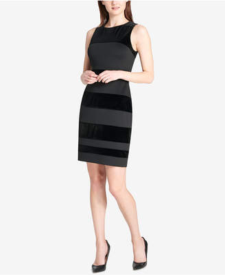Tommy Hilfiger Velvet-Stripe Dress