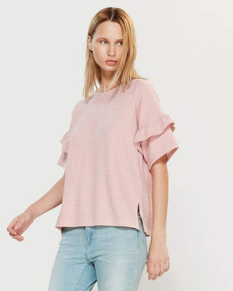 French Connection Sudan Tiered Sleeve Top