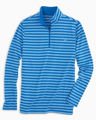 Southern Tide Striped Performance 1/4 Zip Pullover