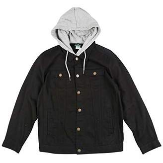 Lrg Men's Research Collection Hooded Denim Jacket