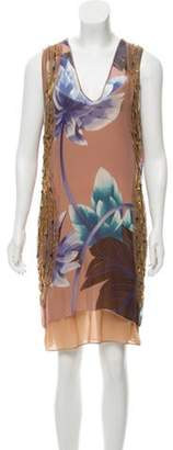 Missoni Beaded Silk Dress w/ Tags Mauve Beaded Silk Dress w/ Tags