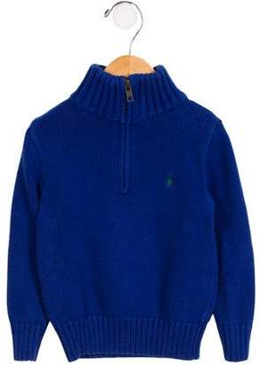 Polo Ralph Lauren Boys' Mock Neck Half-Zip Sweater