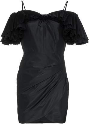 Alessandra Rich Butterfly pleated silk blend taffeta mini dress