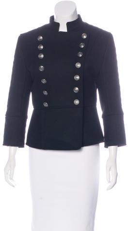 BalmainPierre Balmain Wool Military Coat w/ Tags