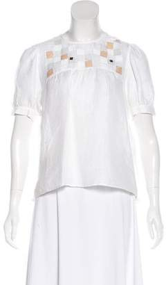See by Chloe Linen Embellished Blouse
