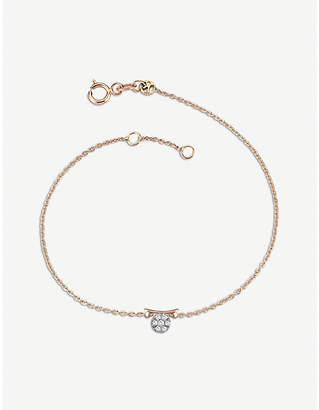 Rosegold The Alkemistry Kismet by Milka 14ct rose-gold and diamond Libra bracelet