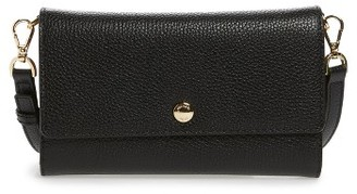 Michael Michael Kors Small Mercer Leather Crossbody Wallet - Black $148 thestylecure.com