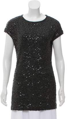 Alberto Makali Sequined Knit Top