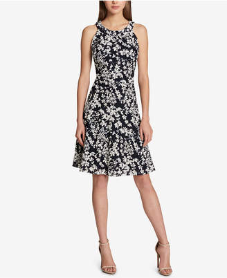 Tommy Hilfiger Floral-Printed Lace Fit & Flare Dress