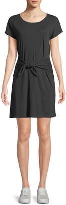 Joie Alyra Tie-Front Crewneck Tee Dress