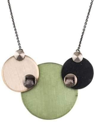 Alexis Bittar Lucite Triple Disc Pendant Necklace
