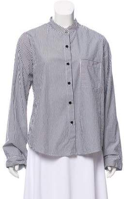 Reformation Stripped Button-Up Blouse
