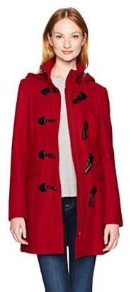 Tommy Hilfiger Women's Wool Blend Classic Hooded Toggle Coat