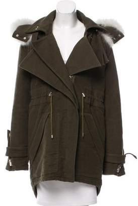 Altuzarra Fur-trimmed Oversize Coat