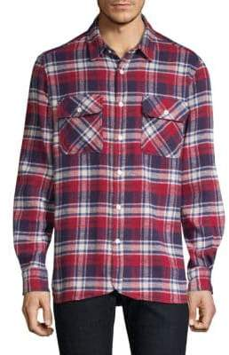 Ovadia & Sons Ian Plaid Flannel Shirt