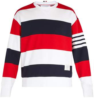 Thom Browne Dropped-shoulder cotton crew-neck sweatshirt